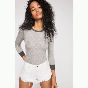 Free People Good On You Ribbed ¾ Sleeve Top